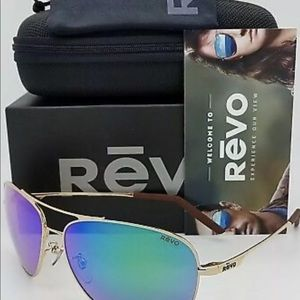 Brand New Revo-Windspeed Gold Aviator Frame & Grn